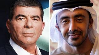 وزيرا خارجية الإمارات وإسرائيل، عبد الله بن زايد وغابي أشكنازي
