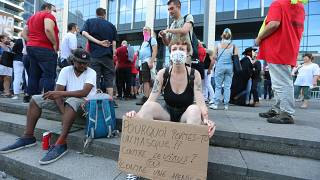 Manifestation contre les mesures sanitaires prises par la Belgique pour lutter contre la pandémie de Covid-19, le 16 août 2020