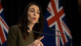 Prime Minister of New Zealand Jacinda Ardern speaks to the media about changing the 2020 general election date on August 17.