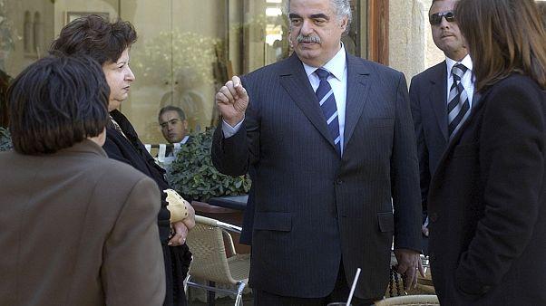 Former Lebanese Prime Minister Rafik Hariri on Feb. 14, 2005 in Beirut, Lebanon.