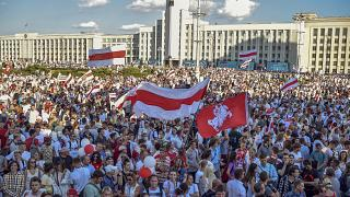 Belarus'ta muhaliflerden Lukaşenko karşıtı protesto gösterisi