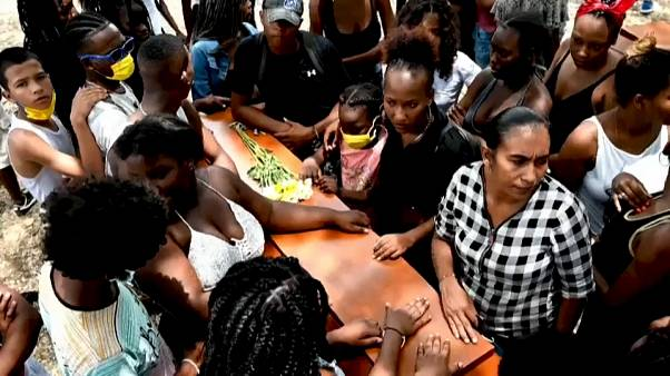 Funeral por los adolescentes asesinados en Cali