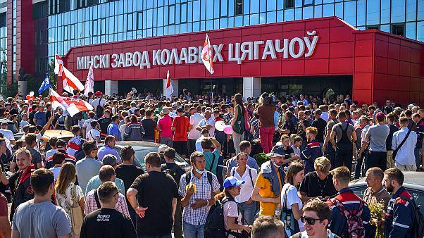 Λευκορωσία: Η συνάντηση με τους εργάτες