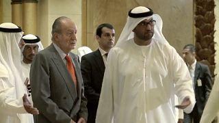 Juan Carlos I con el príncipe heredero de Abu Dabi, Mohammed bin Zayed Al-Nahyan