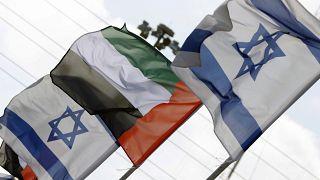 أعلام إسرائيل والإمارات