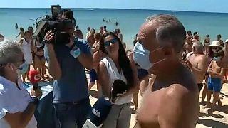 رییس جمهور پرتغال پس از نجات دو گردشگری که قایقشان واژگون شده بود