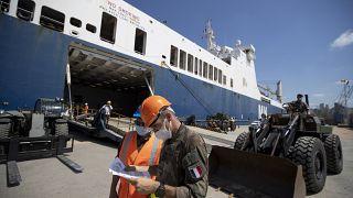 Liban : un 2ème navire français apporte de l'aide à Beyrouth