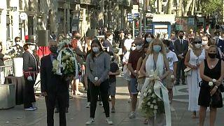 Barcelone rend hommage aux victimes de l'attaque à la fourgonnette qui avait fait 16 morts sur Las Ramblas et à Cambrils en 2017