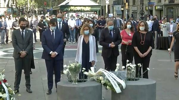 Barcelona mourns the victims of the 2017 terror attacks