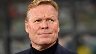 Koeman before a match between Belarus and the Netherlands in Minsk on October 13, 2019