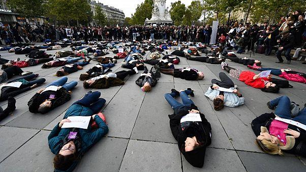 Paris'te kadın cinayetlerine karşı protesto -2019