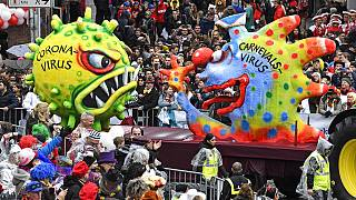 Karneval Februar 2020 - Coronavirus schon dabei