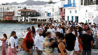 Virus Outbreak Greece Mykonos