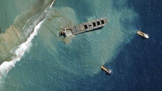 sérült japán tanker a mauritiusi partoknál