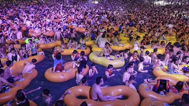 Thousands attended the Wuhan pool party at the weekend