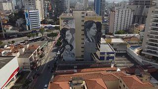 Giant street art in São Paulo