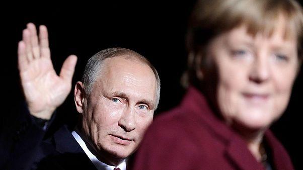 صدر اعظم آلمان و رییس جمهور روسیه