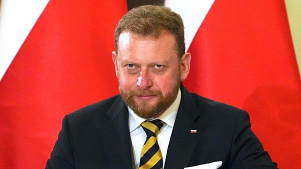 FILE- Lukasz Szumowski pictured during the swearing-in ceremony of new Polish government in November 2019.