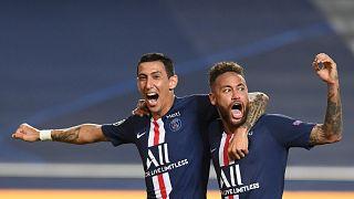 Angel di Maria und Neymar hatten in Lissabon allen Grund zum Jubeln