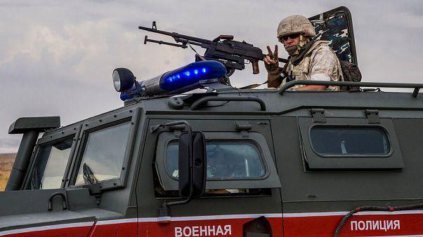 Suriye'de görevli Rus asker