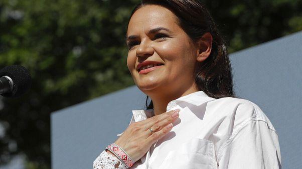 Η επικεφαλής της αντιπολίτευσης στη Λευκορωσία