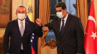 Dışişleri Bakanı Mevlüt Çavuşoğlu ve Venezuela Devlet Başkanı Nicolas Maduro