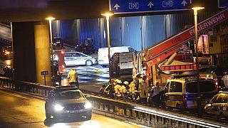 Auf der A100 nach den Unfällen
