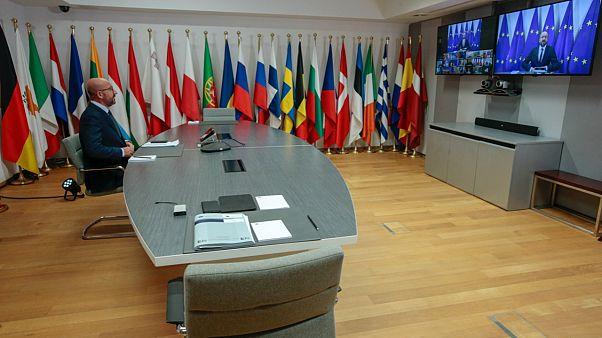 AB Konseyi Başkanı Charles Michel, Birlik'in liderleri ile telekonferans yaparak Belarus'ta seçimler sonrası yaşananları değerlendirdi