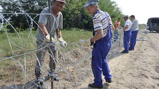 Symbolfoto (Archiv: Zaunbau an der serbisch-ungarischen Grenze)