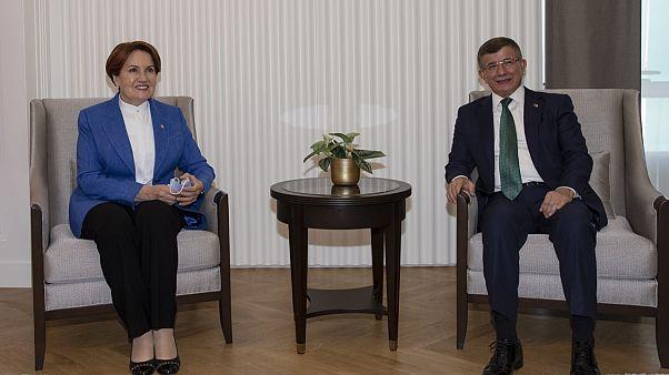 İYİ Parti Genel Başkanı Meral Akşener, Gelecek Partisi Genel Başkanı Ahmet Davutoğlu'nu ziyaret etti