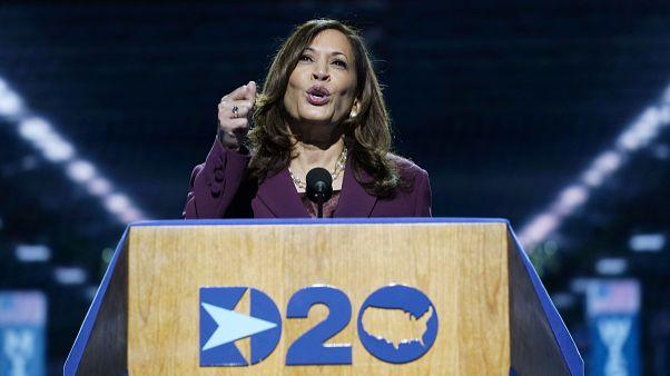 Kamala Harris aceita nomeação democrata