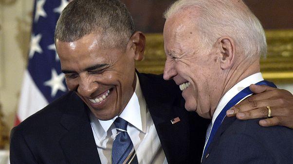 Eski ABD Başkanı Barack Obama ve Demokratların başkan adayı Joe Biden