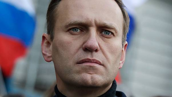 lexei Navalny takes part in a march in memory of opposition leader Boris Nemtsov in Moscow, Russia, Feb 29, 2020