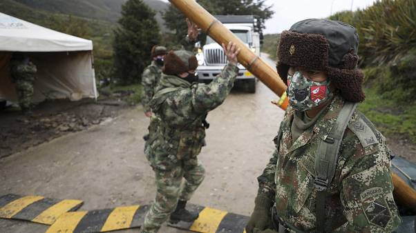 Kolombiya sınır güvenlik birimleri