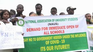 Students in Nigeria demand reopening of schools