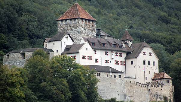 The Castle Vaduz, the home of Liechtenstein's royal family in Vaduz, Liechtenstein.