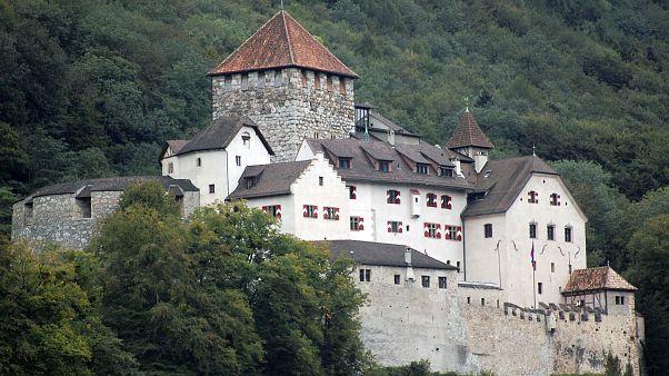 The Castle Vaduz, the home of Liechtenstein's royal family in Vaduz, Liechtenstein.