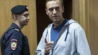 Alexei Navalny ante la corte en Moscú en 2018