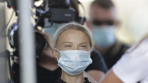 Thunberg pide a Merkel acciones contundentes para frenar el cambio climático