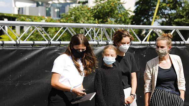 Klimaaktivistinnen in Berlin