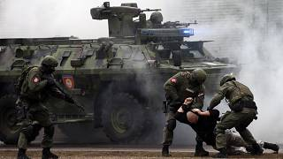 من تدريبات عسكرية صينية-صربية مشتركة ضدّ الإرهاب