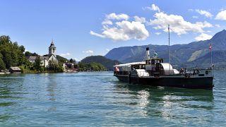 Lake Wolfgangsee in St. Wolfgang, Austria, July 27, 2020.