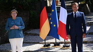 Angela Merkel ve Emmanuel Macron