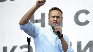 Kremlkritiker Nawalny bei einer Kundgebung