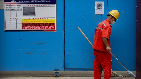 Çin'de bir işçi