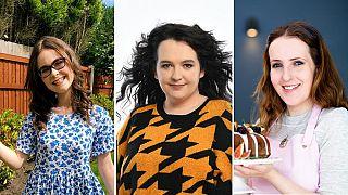 De izquierda a derecha: Emily Bashforth, Ashley Storrie, Sisley White.
