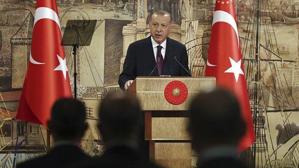 Präsident Erdogan am Freitag in Istanbul