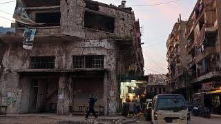 FILE PIC: Nov. 20, 2014, a damaged building in the area where clashes between the Lebanese army and Islamic militants took place in the Tripoli