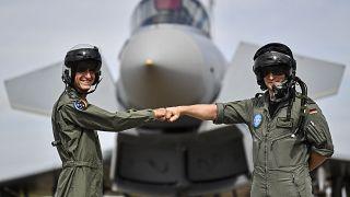 Israelischer und deutscher Kampfpilot in Nörvenich