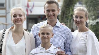 Alexei Navalni con su familia (Archivo)